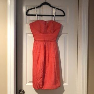 Shoshanna Coral strapless dress size 4- worn once!